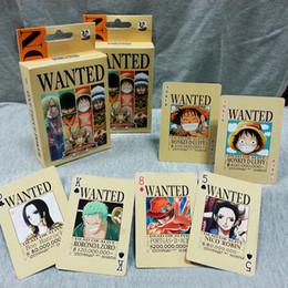 Uma peça miúdo luffy figura on-line-10 conjunto One Piece Figuras Coleção Macaco D. Luffy Roronoa Zoro Cartão de Poker Jogando Cartas Caixa de Cor Embalagem Brinquedo de Presente do Miúdo AIJILE