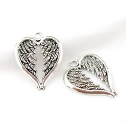 22855 15 ADET DIY Vintage Gümüş Melek Kanatları Vintage Charm Kolye Alaşım Aksesuarları kolye Takı Yapımı Için nereden