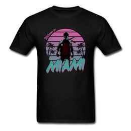 hip hop clothing sale Coupons - Vaporwave Miami Vice T Shirt Cotton Short Sleeve Custom Brand Clothing Hip Hop Hot Sale Big Size Men Shirts