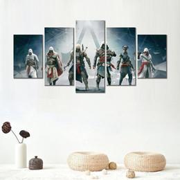2019 assassini creed canvas 5 set moderno arredamento stampato assassins creed altair ezio connor edward dipinti su tela immagini murali per soggiorno sconti assassini creed canvas