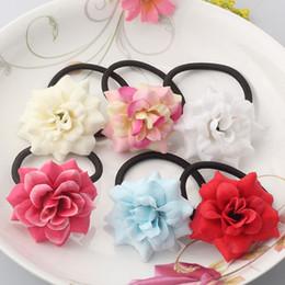 2019 acessórios florais china M MISMO Meninas Floral Elastic Hair Bands Gum de Alta Qualidade para o Cabelo Acessórios para Crianças Bandas De Borracha De Luxo Flor Scrunchy C19010901 acessórios florais china barato