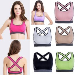 864855e1f56c8 Womens Crop Tops Tanks Top Yoga Sports Running Bra Crop Top Vest Stretch  Bras Padded Sexy