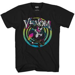 2019 erwachsene grafiken Marvel Venom Farbverlauf Ripped Avengers Villain Erwachsene Männer Graphic T-Shirt T-Shirt 2018 lustiges T-Shirt, niedliche T-Shirts Mann, 100% Baumwolle cool günstig erwachsene grafiken