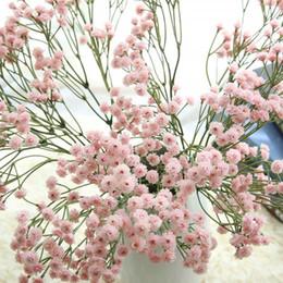 2019 tulipas artificiais laranja 90 cabeças de flores artificiais respiração do bebê falso Gypsophila decoração de casamento de aniversário diy foto adereços cabeças de flor ramo gt60