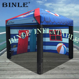 Customized size advertising inflatable square tent with removeable side panels,TPU air sealed portable booth for events