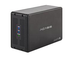lenovo caso alumínio Desconto ACASIS DT-3608 Desktop Dispositivos de Armazenamento de 3.5 polegada Porta Dupla SATA Porta Serial para USB3.0 Caixa de Matriz de Disco Rígido Móvel RAID Caixa de Disco Rígido