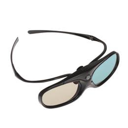 persiana do projetor 3d Desconto G300 Óculos 3D Obturador Ativo Clip-on para DLP-Link Projetor com Projetor de Templo Destacável com Recarregável 3D Óculos Clipe