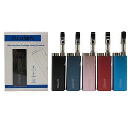 Lojas de cigarros on-line-Original Vapmod Pico Mini E Cigarro Kits 450 mAh Caixa Mod Pré-aquecimento VV Bateria Com Armazenar Câmara Para Cartucho Vape Mods