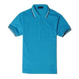 2019 рубашки-поло для полиэстера для мужчин Лето Марка Рубашки Мужчины Поло Роскошный Дизайнер Досуга Футболка Для Мужчин Шорты Рукава Полиэстер Твердые Случайные Свободные Спортивная Одежда S-4XL дешево рубашки-поло для полиэстера для мужчин