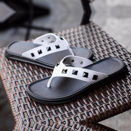 sandali di sughero marrone Sconti Sandalo uomo Cork Sandalo New Summer Men Patchwork Beach Slides Doppia fibbia Infradito Scarpa Nero Blu Marrone Bianco 44 eur