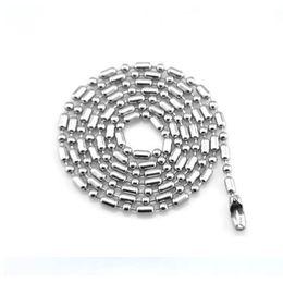 2019 colar de prata mexicana da bola Colar de Corrente de prata para As Mulheres Homens de Aço Inoxidável Colar de Corrente Dos Homens para Fazer Jóias Colar De Corrente De Bola Preço de Atacado desconto colar de prata mexicana da bola