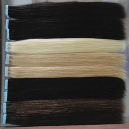 Toptan İnsan saç uzantıları Bant cilt atkı renkler sarışın remy saç 16 ila 24 inç 20 adet / torba, 40g, 50g, 60g Ücretsiz Kargo supplier hair extension tape weft nereden saç uzatma bandı atkı tedarikçiler