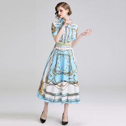 Argentina Diseño de moda vestido de mujer 2019 corte de la solapa de manga corta de verano delgado vestidos de color azul claro mujer ropa streetwear mujer cheap fashion lighting design dresses Suministro