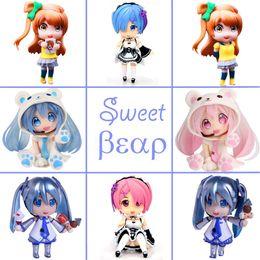 2019 bambole di miku Bambola anime giapponese PVC Action Figures Kotori Minami Ram Rem Ghiaccio Neve Miku Sakura Miku Decorazione Bambola Collezione Giocattoli sconti bambole di miku