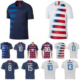 Estadios de futbol online-Selección Nacional de Fútbol Jersey 8 CORONA 13 SARGENT JONES 9 ZARDES 7 BEASLEY WONDOLOWSKI ERTZ 10 ESTADIO DE LLOYD Kits de camisetas de fútbol del hogar