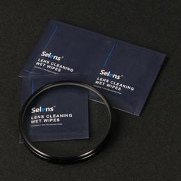 vetri bagnati Sconti carta detergente Selens 20 fogli / pacchetto salviettine umidificate tessuto pre-inumidito per il filtro obiettivo della fotocamera occhiali LCD monitor tablet professionale di pulizia