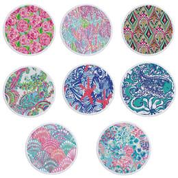 2019 pépinière de bébé en tissu Bohemia Serviette De Plage Microfibre Rond Serviettes De Plage Glands Tenture murale Tapisseries Floral Pique-Nique Tapis Femme Serviette De Bain 8 couleurs