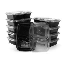 2019 embalagens de plástico descartáveis Recipientes descartáveis da preparação da refeição da microonda do armazenamento do alimento da microonda Recipientes de alimento do talheres das crianças do recipiente do alimento das refeições do zelo de Bento