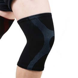 Compressão elástica da perna on-line-1 pc Joelho Pad Envoltório Respirável Elastic Knitted Compression Leg Warmer Protetor De Segurança Do Joelho Envoltório de Segurança