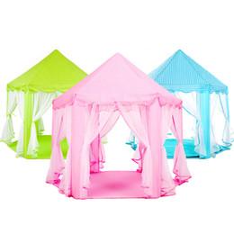 Tenda para meninas ao ar livre on-line-Princesa menina Castelo Dobrável Tendas Playhouse Bola Casa Crianças Jogando Tenda de Brinquedo Do Bebê Ao Ar Livre Indoor Tenda Portátil Y40