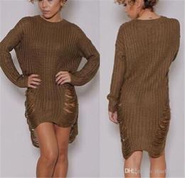 vintage frauen pullover Rabatt Winter Herbst Frauen Lose Pullover Kleid Grün Elegante Vintage Kleider Sexy Langarm Casual Damenmode Schwarz