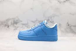 Dimensione 11 scarpe sportive blu online-Off White Air force 1 New 1 White 1s MCA University Blue Forces Mens Designer Scarpe da uomo Sport Womens Air Designer Sneakers Chaussures off Scarpe da ginnastica Taglia 11