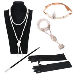 diadema de plástico para niñas grandes accesorios para el cabello Rebajas accesorios del traje del casco de Charleston 1920 Cinta de cabeza aleta gran Gatsby accesorios para el cabello pelo novia