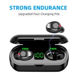 Phone için TWS Bluetooth 5.0 Kulaklık Kablosuz Kulaklık Stereo Spor Kablosuz Kulaklık Kulaklık Kulaklık 2000 MAh Şarj Kutusu nereden profesyonel kulaklıklar markaları tedarikçiler