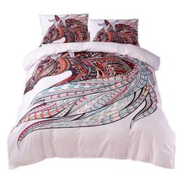 2019 conjuntos de cama de cavalo de tamanho duplo Cavalo Conjunto de Cama Hd Impressão Tribal Cavalos Capa de Edredão Set Twin Completa Rainha Rei 3 Pcs Cama tamanho 5 conjuntos de cama de cavalo de tamanho duplo barato