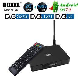 Decoder online-MECOOL K6 DVB-T2 DVB-S2 Smart Android 7.0 TV Box Hisilicon HI3798M Quad Core 2GB RAM 16GB eMMC 4K Decoder Box DVB-C Media Player