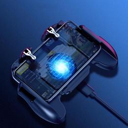 contrôleur de ventilateur Promotion Téléphone mobile Gamepad Manette de jeu pour Game PUBG Mobile Controller Trigger Pad Controller Support avec / sans refroidisseur ventilateur de refroidissement