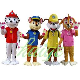 traje adulto mascotte Desconto Venda quente Cão Traje Da Mascote Cão de Natal do Dia Das Bruxas mascotte adultos trajes anime