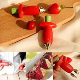 2019 strumenti di fragola Carino rosso fragola Huller fragola Corer Top Leaf Remover foglia di frutta Gambi Hullers cucina creativa Gadget casa attrezzo della cucina DBC VT0361 sconti strumenti di fragola