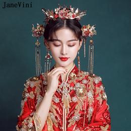2019 accessoire de cheveux rouge de mariage chinois  promotion accessoire de cheveux rouge de mariage chinois