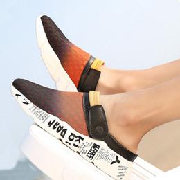 сетчатые тапочки оптом Скидка KESMALL Оптовая мужская летняя обувь Сандалии Дышащие мужские тапочки Mesh Повседневная обувь Открытый скольжения на пляже Вьетнамки