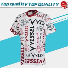 ropa casual de futbol Rebajas J1 League Vissel Kobe Camisetas de fútbol 2019 Vissel Kobe Leisurewear Hombres camiseta de fútbol de manga corta 2019 ropa casual Uniforme de fútbol