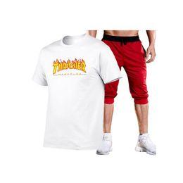 2019 palastanzüge Neueste Marke Anzug Palace T-Shirt Anzug Kurzarm Hip Hop T Anzug 13 Farbe M-2XL rabatt palastanzüge