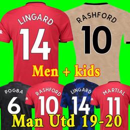 Camiseta de fútbol Tailandia FC Manchester United soccer jersey football shirt 2019 2020 POGBA LINGARD LUKAKU RASHFORD chandal de fútbol MARCIAL UtD 18 19 20 camisetas de MAN desde fabricantes