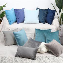 Cuscini in oro blu online-Velluto di lusso Cuscino 45x45cm o un'immagine federa Verde Giallo Rosa Blu Oro Bianco Nero Grigio casa Divano decorativo