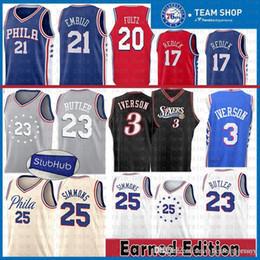 39022ee72f2 Jimmy 23 Butler Philadelphia Jersey 76ers Joel 21 Embiid Ben 25 Simmons 3  Allen 3 Iverson Markelle 20 Fultz J.J. 17 Redick Basketball Jerse
