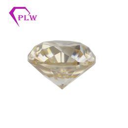 Argentina Provence joyería 3 ex VVS color amarillo 1 quilate 6,5 mm del corte del amortiguador moissanite suelta para el collar de la pulsera del pendiente del anillo Suministro