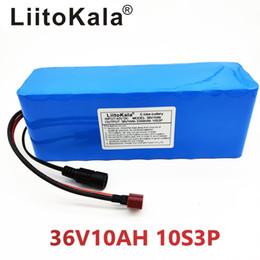 Литиевые батареи для автомобилей онлайн-HK LiitoKala 36V 10Ah 500W High powercapacity 42V 18650 литиевая аккумуляторная батарея Ebike электрический автомобиль велосипеда мотороллер с BMS