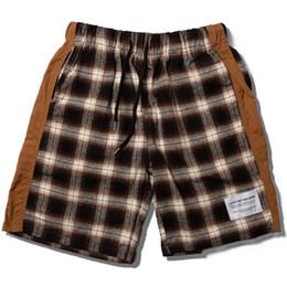 2019 pantalones cortos para hombres Moda Shorts Hombres 2019 Verano Hawaii Harajuku Streetwear Cuadros Color Bloque Hip Hop Longitud de la rodilla Hombre Harem Pantalones cortos de sudor rebajas pantalones cortos para hombres