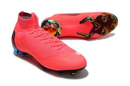 Colores rosados Botas de fútbol 100% originales Mercurial Superfly Vi 360 Elite Fg Zapatos de fútbol para exteriores Tacos de fútbol al por mayor de alta calidad desde fabricantes