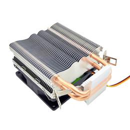 Hitze rohr kupfer online-3Pin Standard Edition Drei Lichter Ohne Licht Einzellüfter CPU-Kühler Reines Kupfer 2 Heat Pipe CPU-Kühler Extrem leise