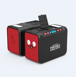 Batteria portatile del litio 12v online-Power Station Portable Battery Pack al litio 74WH generatore solare di alimentazione di backup 110V 220V AC Generator