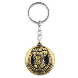 Superheld schlüsselanhänger online-Marvel Movie Schlüsselanhänger Schmuck Superheld Thor Rocky's Hammer Axe Schlüsselanhänger Doctor Strange Key Ring Thanos