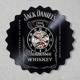 Idées cadeaux fille en Ligne-Jack Daniel Disque Vinyle Tennessee Whiskey Fait À La Main Studio Décor Fans Cadeaux Original Décor Idées Cadeaux Unique pour Amis Lui Ses Garçons Fille