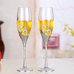 Argentina Pareja de bodas Copa de cristal Flautas de cristal de champán Regalos perfectos 1 par = 2 piezas Precios Cristal de lujo Copas de vino Suministro