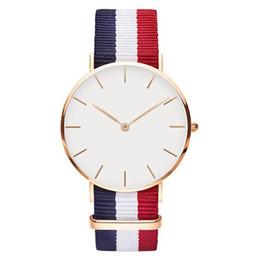 2019 dw relógio pulseira de nylon Nova 40 MM dos homens Daniel Wellington Assista Nylon Têxtil Strap Business Casual Sports Marca de Quartzo DW Assista dw relógio pulseira de nylon barato